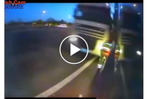 Kierowca zepsutej ciężarówki cudem uniknął śmierci