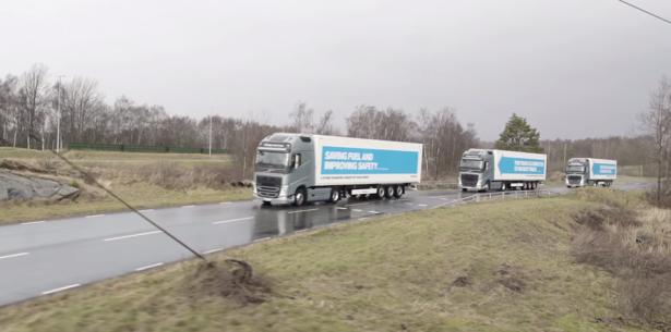 Konwój autonomicznych ciężarówek przejechał Europę