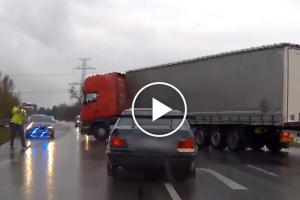 Polski kierowca ciężarówki pomaga ująć złodzieja