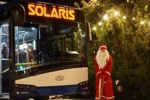 Święty Mikołaj jeździł elektrycznym Solarisem