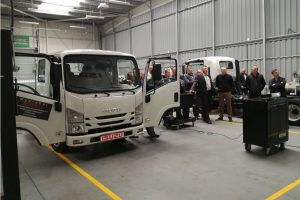 Warsztaty Q-Service Truck serwisują pojazdy Isuzu