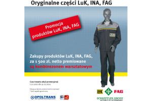 Grudniowa promocja produktów LuK, INA i FAG w Opoltrans