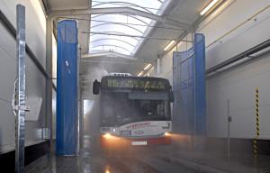 Myjnia przejazdowa dla autobusów w Sosnowcu