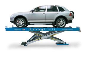 Podnośniki nożycowe Ravaglioli dla długich pojazdów