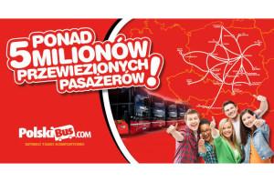 PolskiBus.com – 5 milionów pasażerów w 3 lata