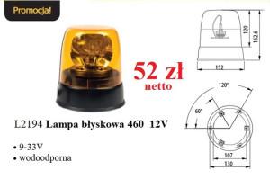 Lampa błyskowa 460 12V w Promocji Tygodnia KAMAR