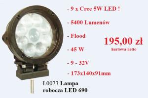 Lampy robocze z diodami Cree w Promocji Tygodnia KAMAR