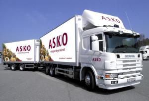 Cała flota ciężarowa ASKO z rozwiązaniami FMS od Transics