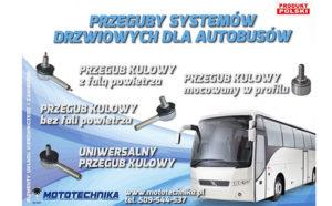 Przeguby systemów drzwiowych dla autobusów wofercie Mototechnika