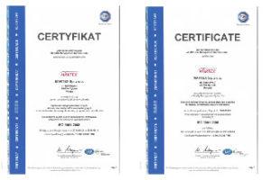 Ważny certyfikat dla dystrybutora części
