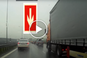 Kolejny kierowca ciężarówki daje kiepskie świadectwo