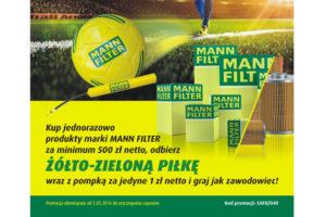 Piłkarski zestaw za zakupy MANN-FILTER