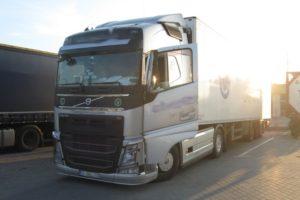 Turecka ciężarówka z wyłącznikiem tachografu