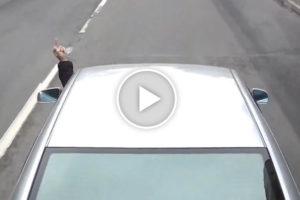 Lepiej nie pokazuj palca kierowcy ciężarówki!