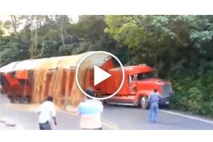 Kompilacja przeładowanych ciężarówek