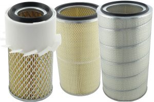 Cztery wkłady filtra powietrza od Exmot