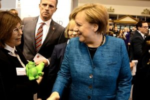 Angela Merkel i Beata Szydło na Hannover Messe