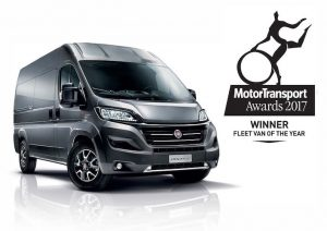 "Van Chucka Norrisa z tytułem ""Fleet Van of the Year 2017""."