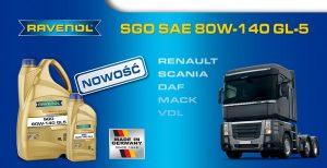 Nowość przekładniowa RAVENOL SGO SAE 80W-140 GL-5