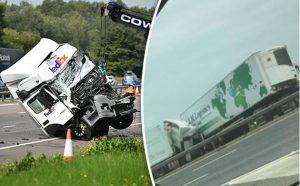 Straszny wypadek na angielskiej autostradzie. Pijany kierowca z Polski.