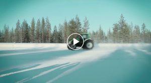 130 km/h traktorem...po lodzie