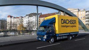 Elektryczne samochody we flocie firmy Dachser