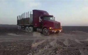 Ciężarówka zniszczyła rysunki sprzed 2000 lat!