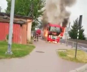 Spłonęła ciężarówka Renault Magnum polskiego kierowcy