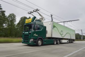 "Pojazdy Scania w projekcie ""Trucks for German eHighways"""