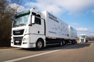 DB Schenker i MAN Truck testują platooning