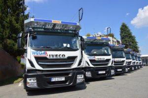 Wega-A z 7 pojazdami IVECO Stralis Cartransporter