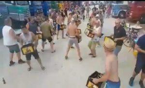 Rytualny taniec kierowców ciężarówek