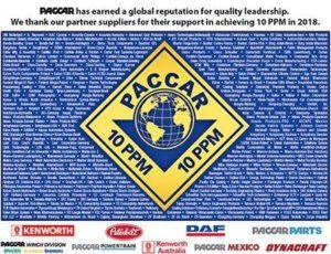 Dayco nagrodzone certyfikatem jakości PACCAR