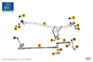 Mechanizm wycieraczek w ofercie DT Spare Parts
