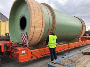 Fracht FWO Polska dostarcza młyny przemysłowe z Niemiec do elektrowni w Bełchatowie