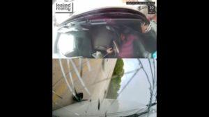 Tak wygląda zaśnięcie za kierownicą – [film]