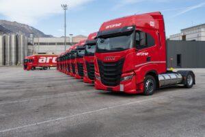 Firma Arcese postawiła na ciężarówki Iveco na LNG
