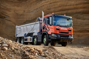 Wywrotka Scania w teście porównawczym Commercial Motor