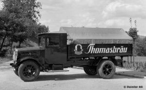 Pierwsza ciężarówka Benza i Daimlera z silnikiem Diesla