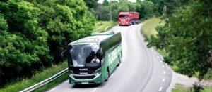 Premiera pierwszego autobusu turystycznego Scania na biogaz